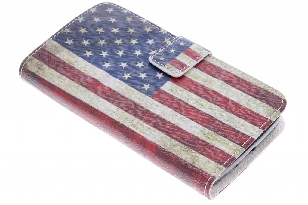 Amerikaanse vlag design TPU booktype hoes voor de LG L Bello / L80 Plus