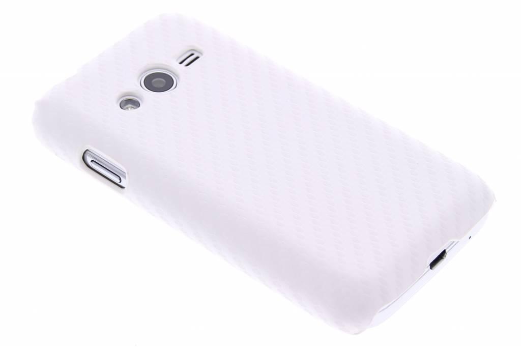 Wit carbon look hardcase hoesje voor de Samsung Galaxy Trend 2 (Lite)
