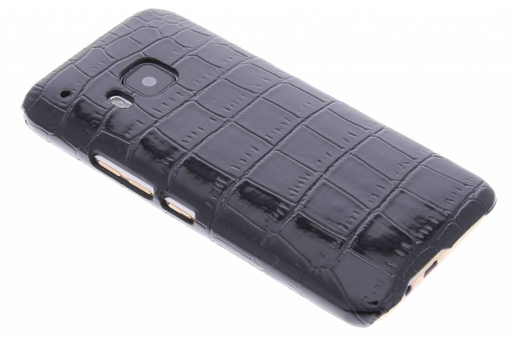 Zwart krokodil design hardcase hoesje voor de HTC One M9