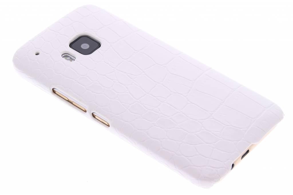 Wit krokodil design hardcase hoesje voor de HTC One M9