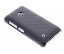 Zwart carbon look hardcase hoesje Nokia Lumia 530