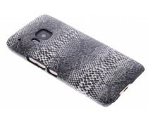 Zwart slangen design hardcase hoesje HTC One M9