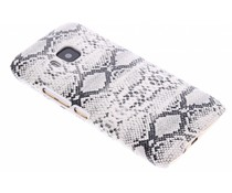 Wit slangen design hardcase hoesje HTC One M9