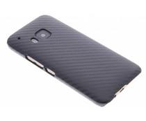Zwart carbon look hardcase hoesje HTC One M9
