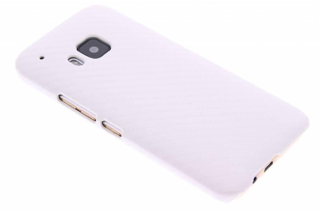 Wit carbon look hardcase hoesje voor de HTC One M9