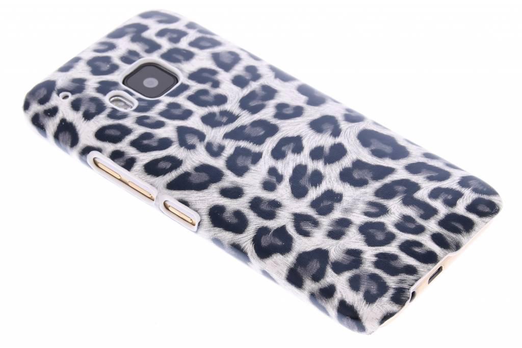 Grijs luipaard design hardcase hoesje voor de HTC One M9