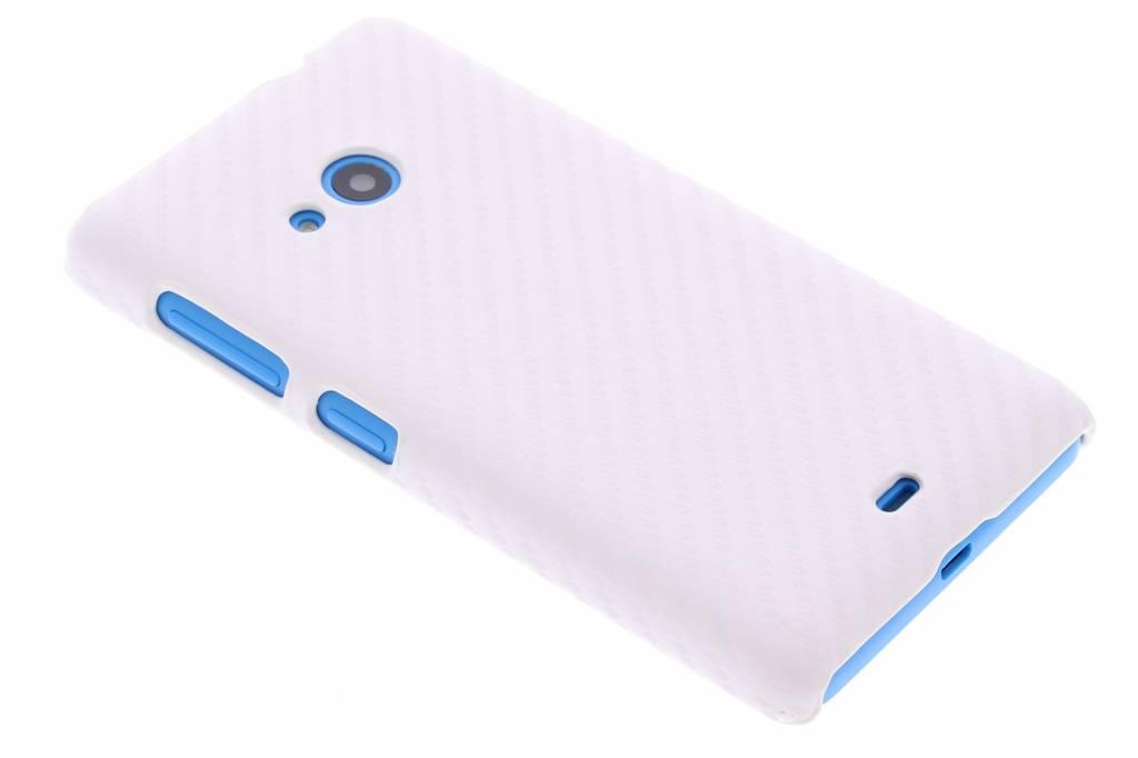 Wit carbon look hardcase hoesje voor de Mcrosoft Lumia 535