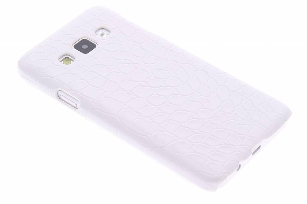 Wit krokodil hardcase hoesje voor de Samsung Galaxy A3