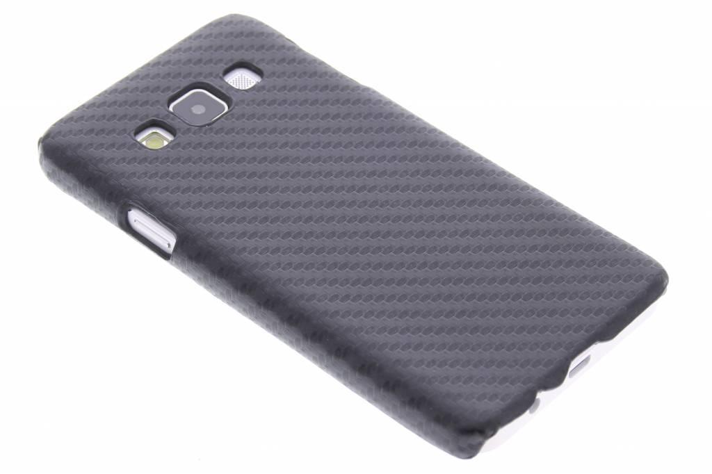 Zwart carbon look hardcase hoesje voor de Samsung Galaxy A3