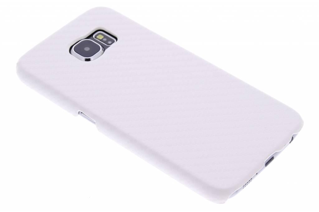 Wit carbon look hardcase hoesje voor de Samsung Galaxy S6