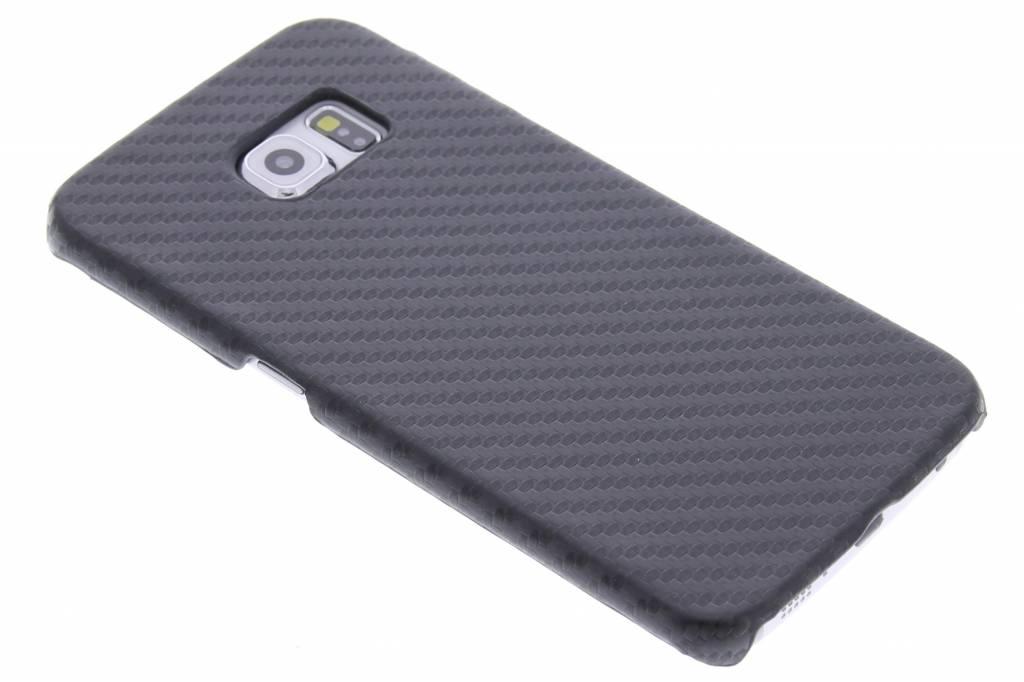 Zwart carbon look hardcase hoesje voor de Samsung Galaxy S6 Edge