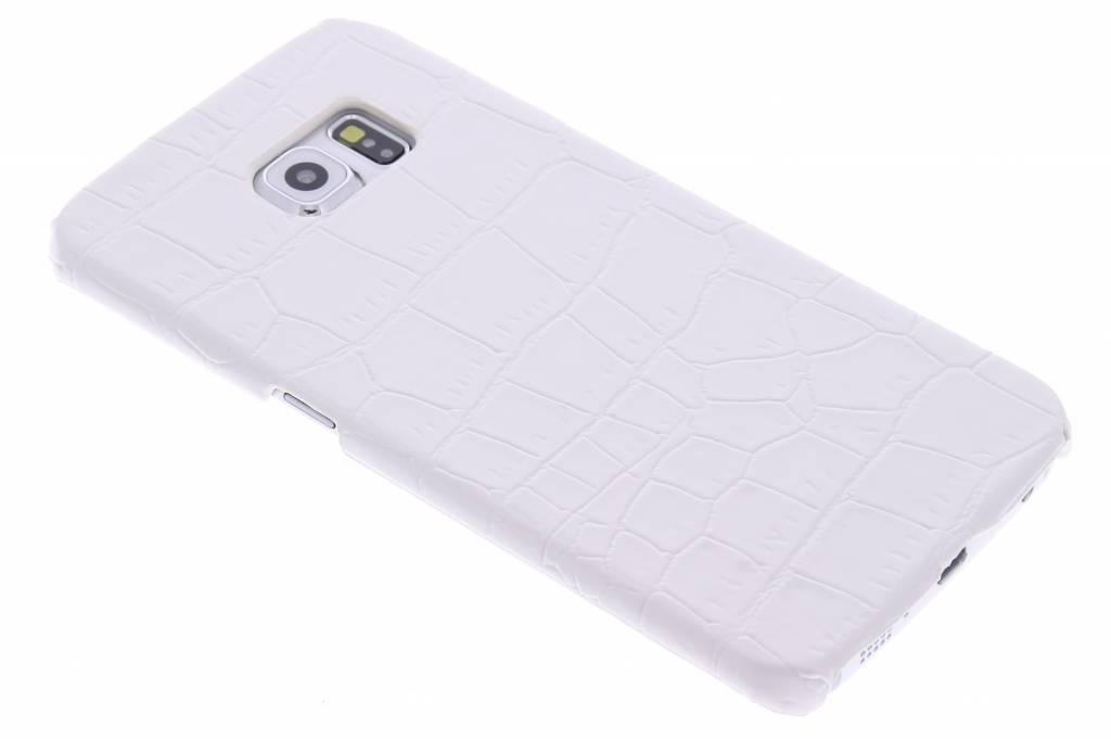Wit krokodil design hardcase hoesje voor de Samsung Galaxy S6 Edge