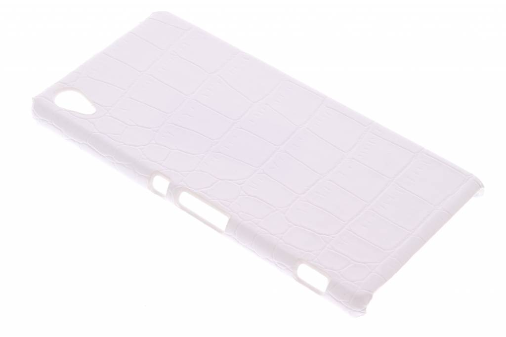 Wit krokodil design hardcase hoesje voor de Sony Xperia Z3 Plus