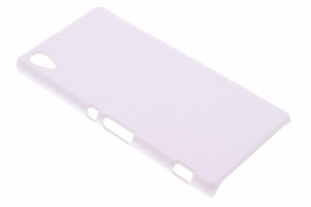Wit carbon look hardcase hoesje voor de Sony Xperia Z3 Plus