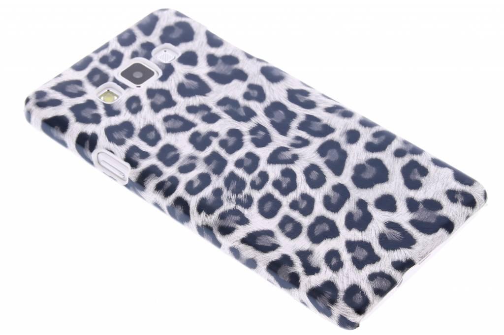 Grijs luipaard design hardcase hoesje voor de Samsung Galaxy A7