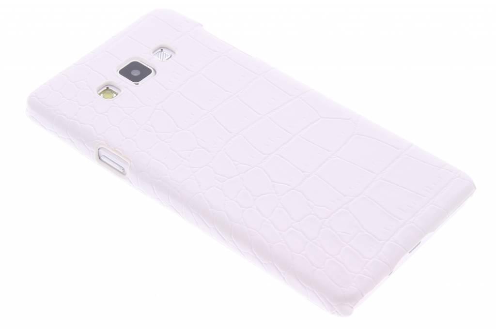 Wit krokodil design hardcase hoesje voor de Samsung Galaxy A7