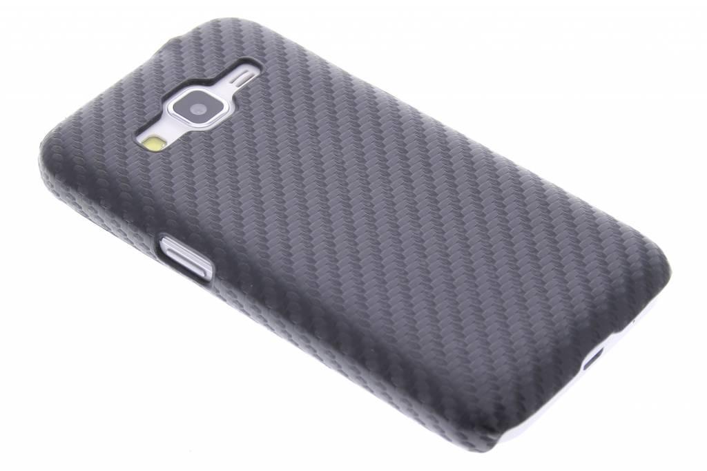 Zwart carbon look hardcase hoesje voor de Samsung Galaxy Core Prime