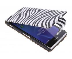 Zebra flipcase Sony Xperia Z2