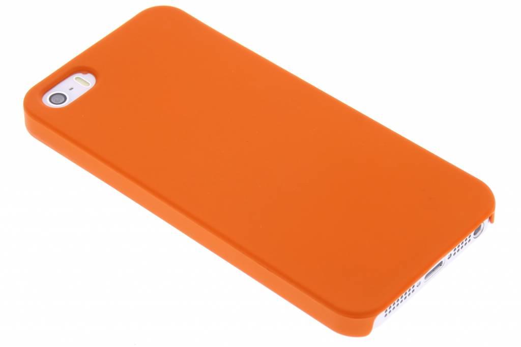Oranje effen hardcase hoesje voor de iPhone 5 / 5s / SE