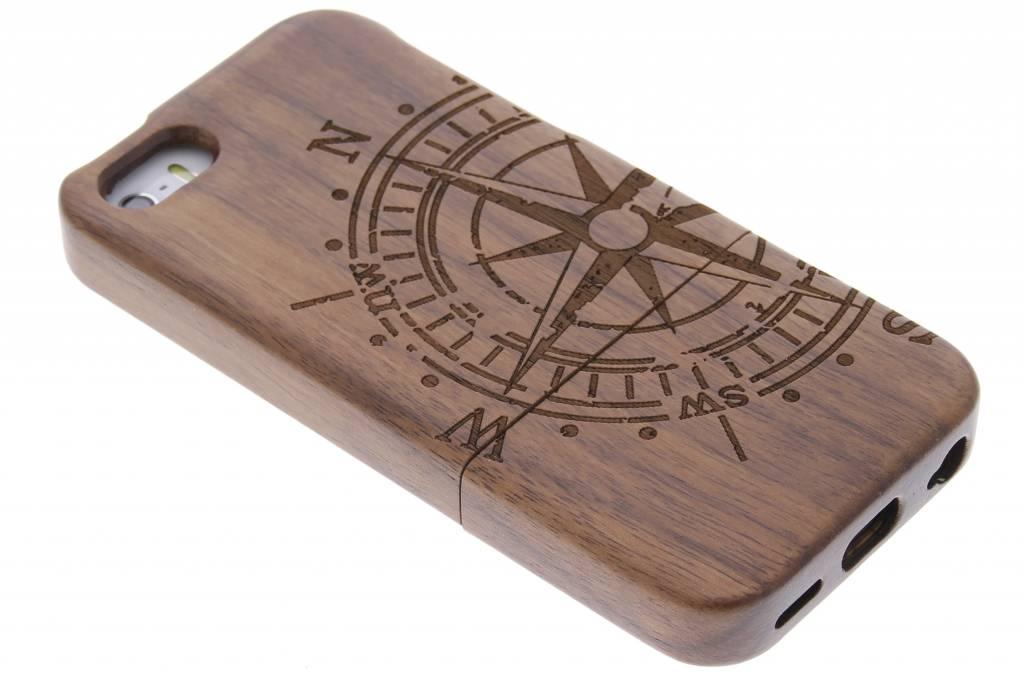 Echt houten hardcase hoesje met print voor de iPhone 5-5s-SE