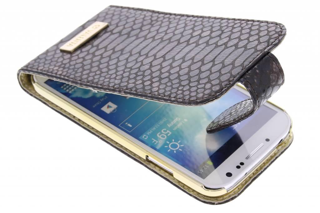 Valenta Animal flipcase snake voor de Samsung Galaxy S4 - bruin