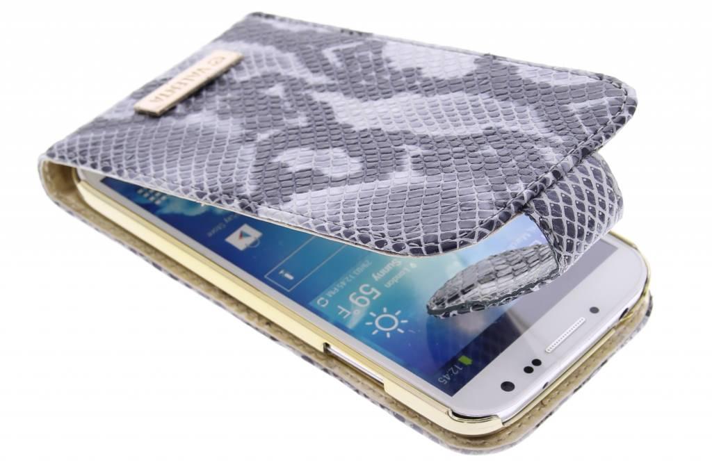 Valenta Animal flipcase snake voor de Samsung Galaxy S4 - grijs
