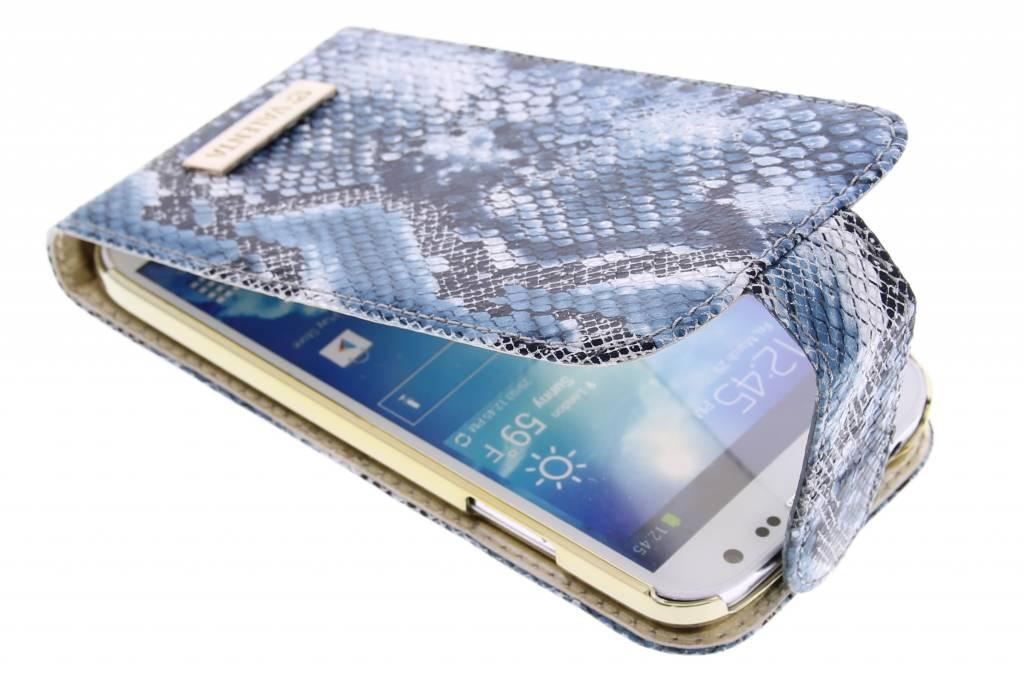Valenta Animal flipcase snake voor de Samsung Galaxy S4 - blauw