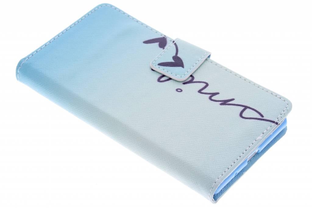 Smile design TPU booktype hoes voor de Huawei Ascend P7