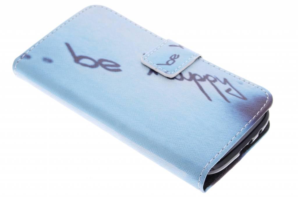 Be happy design TPU booktype hoes voor de Samsung Galaxy S3 / Neo