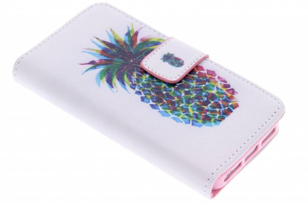 Ananas design TPU booktype hoes voor de iPhone 5 / 5s / SE