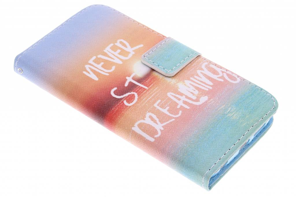 Dreaming design TPU booktype hoes voor de Samsung Galaxy S6 Edge