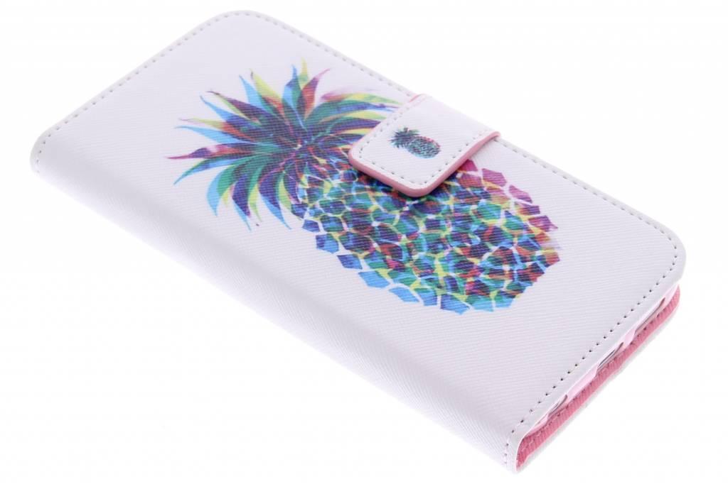Ananas design TPU booktype hoes voor de Samsung Galaxy S6 Edge