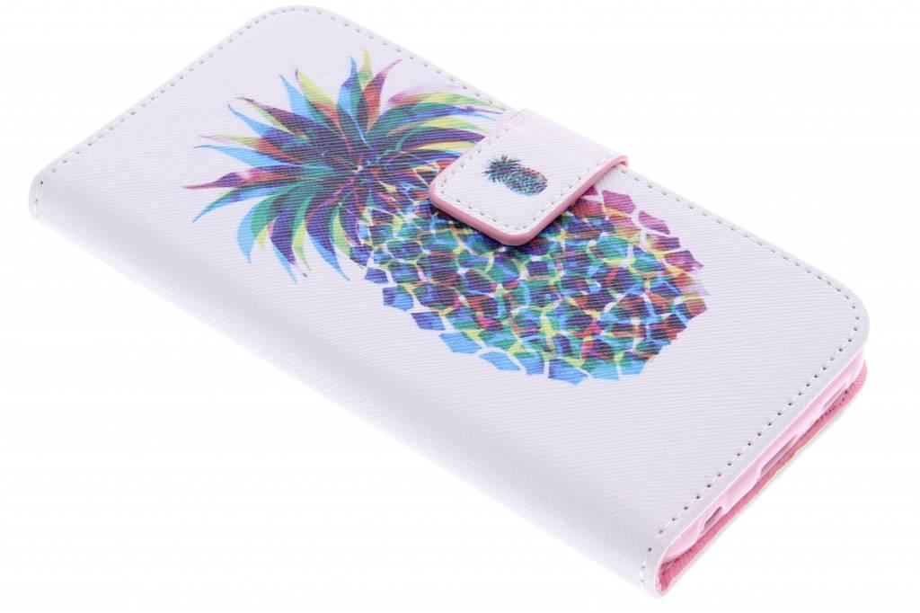 Ananas design TPU booktype hoes voor de Samsung Galaxy S6