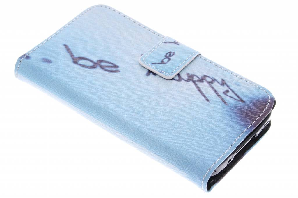 Be happy design TPU booktype hoes voor de Samsung Galaxy S5 Mini