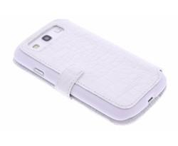 Valenta Booklet Croco Samsung Galaxy S3 / Neo - wit