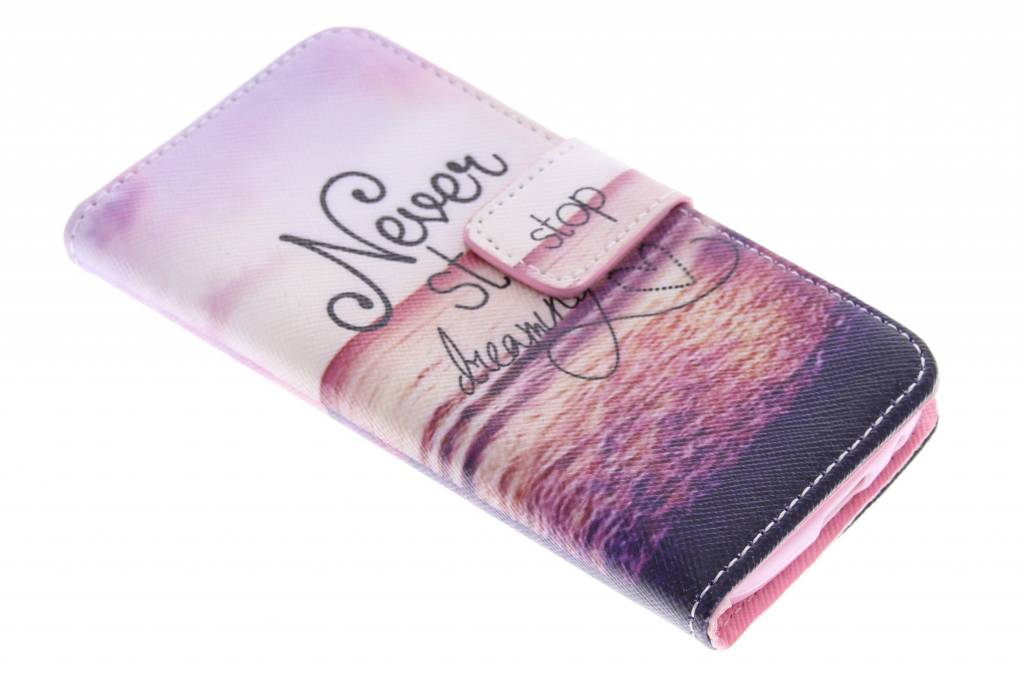 Dreaming design TPU booktype hoes voor de Samsung Galaxy S4 Mini