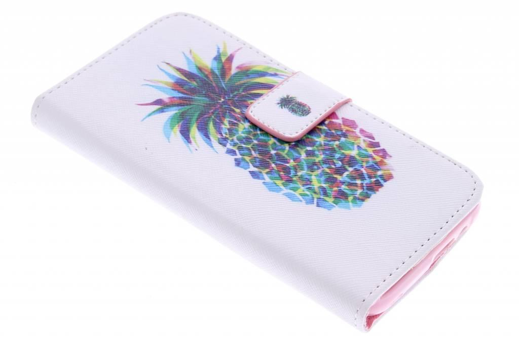 Ananas design TPU booktype hoes voor de HTC One M9