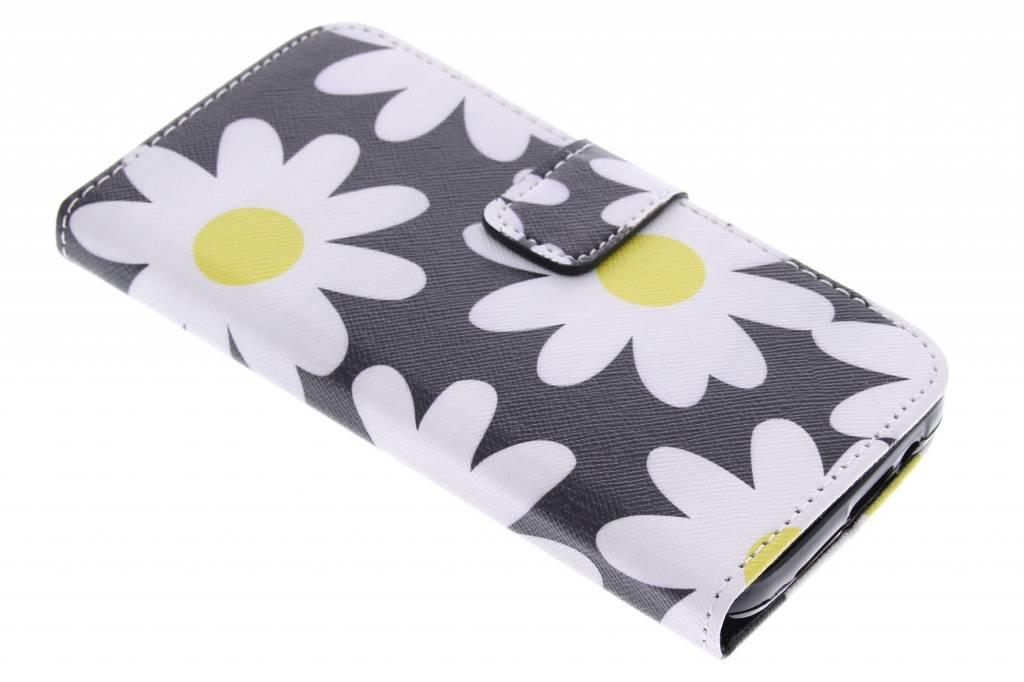 Bloemen design TPU booktype hoes voor de HTC One M9