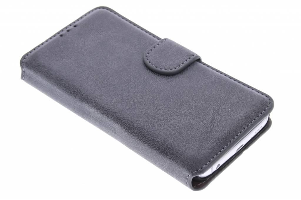 Grijze suède look booktype hoes voor de Samsung Galaxy S6 Edge