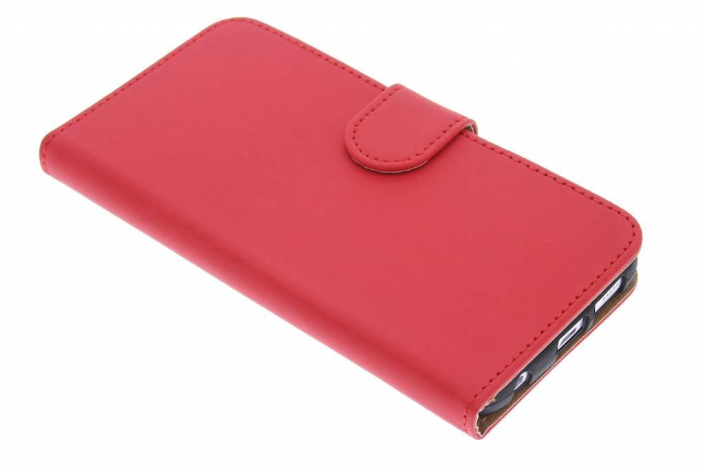 Rode effen booktype hoes voor de Samsung Galaxy S6 Edge