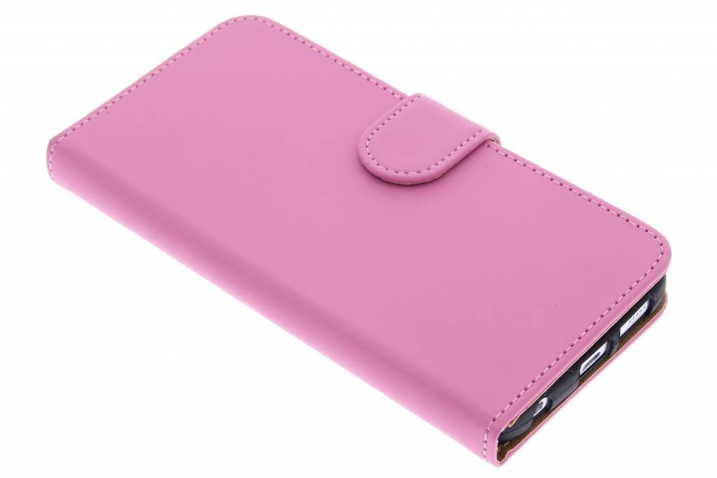 Roze effen booktype hoes voor de Samsung Galaxy S6 Edge