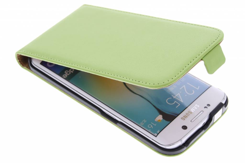 Groene luxe flipcase voor de Samsung Galaxy S6 Edge