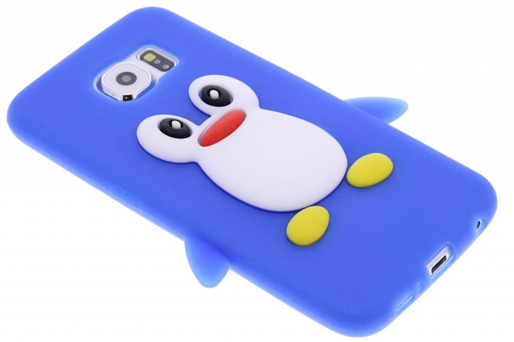 Blauw pinguin siliconen hoesje voor de Samsung Galaxy S6