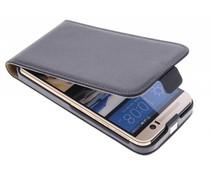 Zwart luxe flipcase HTC One M9
