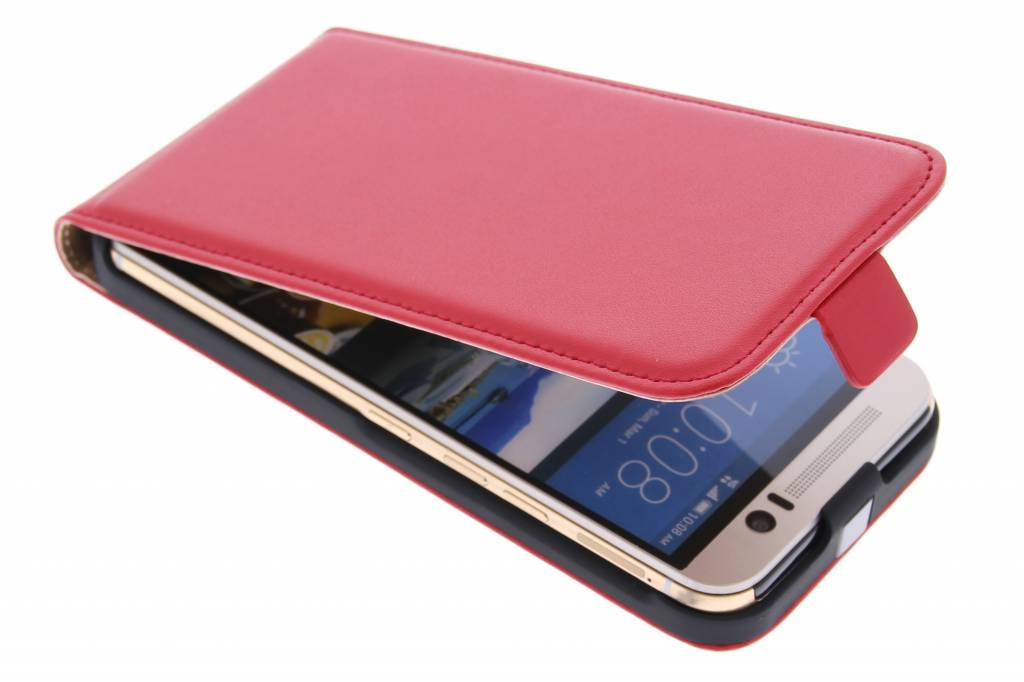 Rode luxe flipcase voor de HTC One M9