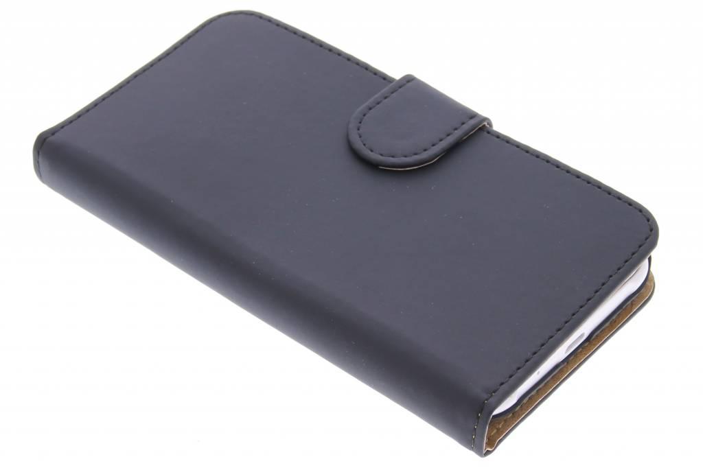 Zwarte effen booktype hoes voor de Samsung Galaxy J1