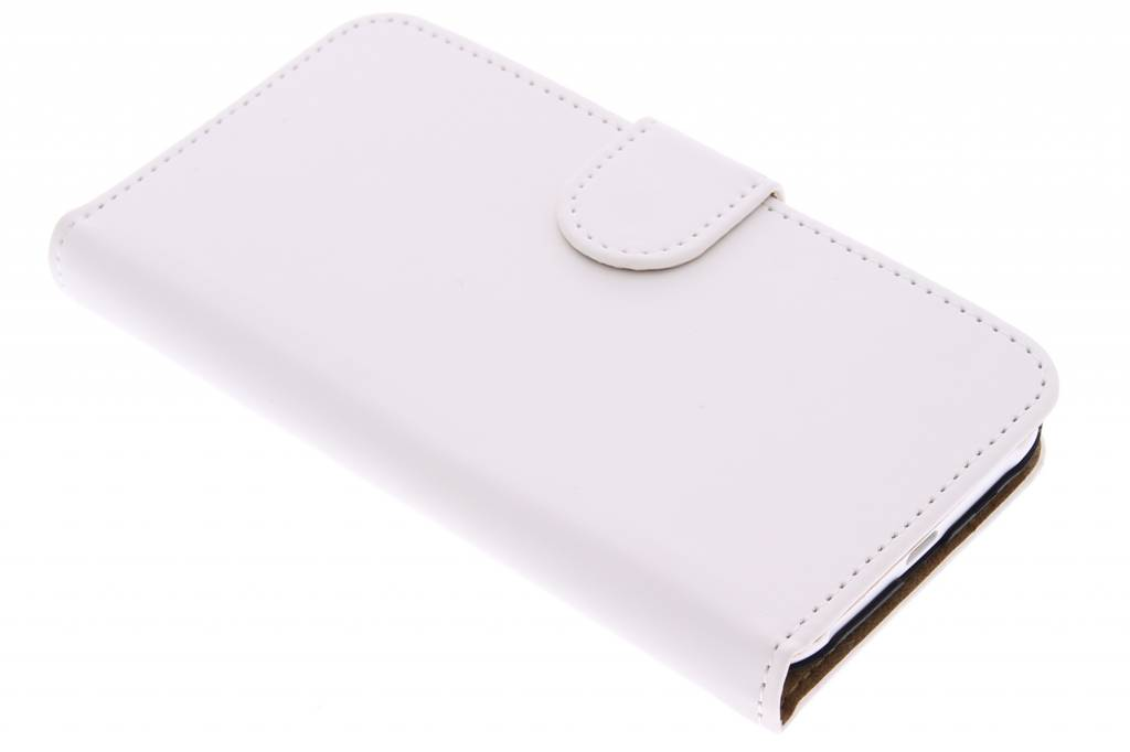 Witte effen booktype hoes voor de Samsung Galaxy J1