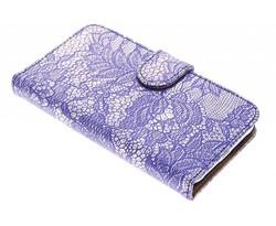 Blauw glamour design booktype Samsung Galaxy J1