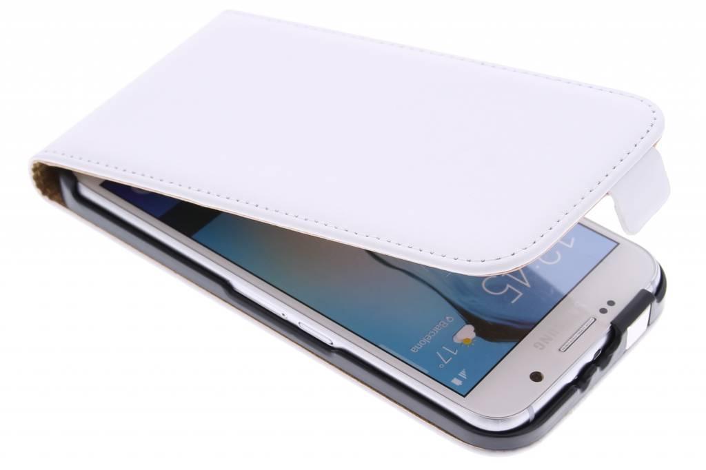 Witte luxe flipcase voor de Samsung Galaxy S6