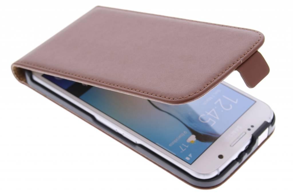 Bruine luxe flipcase voor de Samsung Galaxy S6